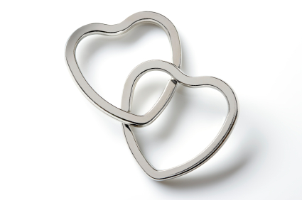 Two hearts linked forever