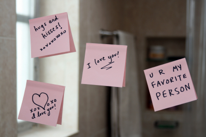 The Best Kind of Love - fun and romantic love notes on the mirror.