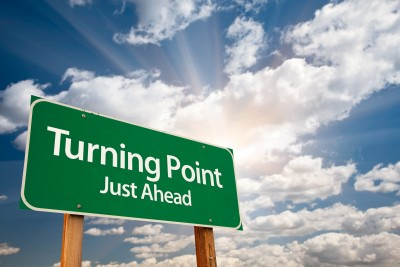 There comes a time in all relationships that is a turning point, a time when you realized that you have to make a change. The road sign says turning point just ahead.