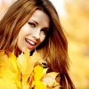 A beautiful woman is smiling, happy because she is full of self-confidence.