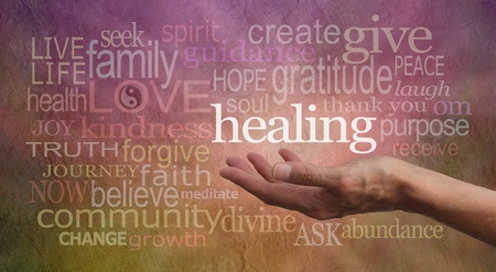 Concept showing that healing comes from love