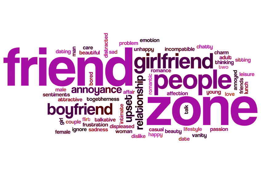 Friend Zone word cloud.