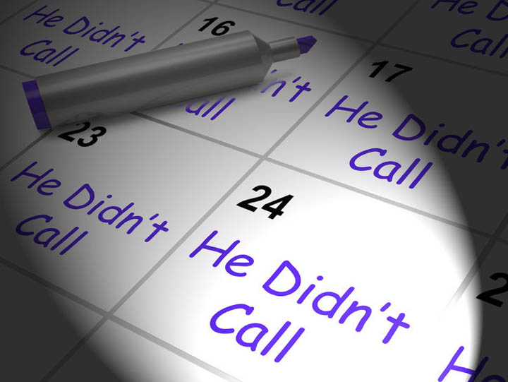 Calendar showing that he hasn't called.
