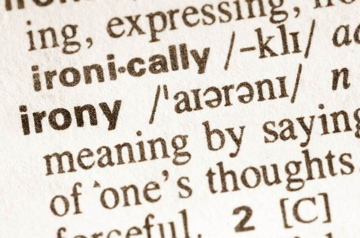 Definition of word irony in dictionary